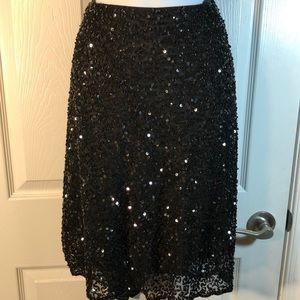 NWT Laurence Kazar Black Beaded Skirt Size 1X